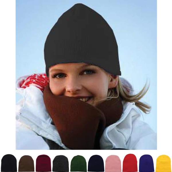 Short knit beanie, approximately