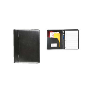 Leatherette padfolio with clear