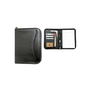 Leatherette padfolio with organizer