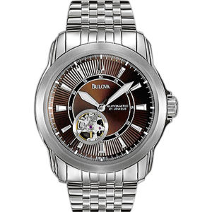 Bulova BVA Series - Men s 100 series automatic watch Polished stainless steel case Blank 96A101