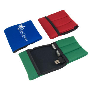 Promotional Vinyl ID Pouch/Holders-USB3ECO
