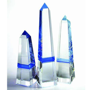 Blue obelisk optical crystal