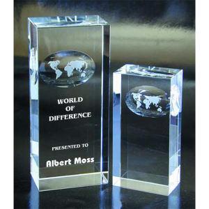 Atlas optical crystal award/trophy.