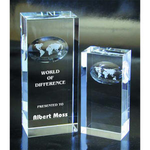 Atlas optical crystal award/trophy.