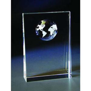 World optical crystal award/trophy.