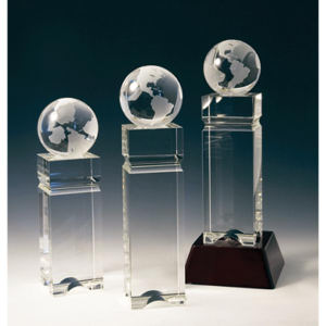 Tower optical crystal award