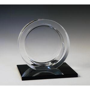 Circle award on black