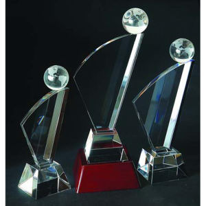 Global optical crystal award/trophy,