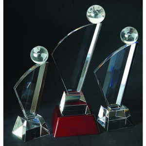 Global optical crystal award/trophy.11