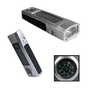 OVERSEAS, solar powered flashlight