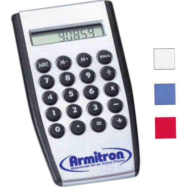 Handheld calculator with raised