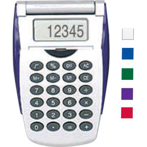 Silver flip open calculator.