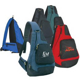 Polyester sling backpack with