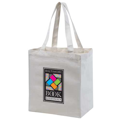 Canvas shopping tote.