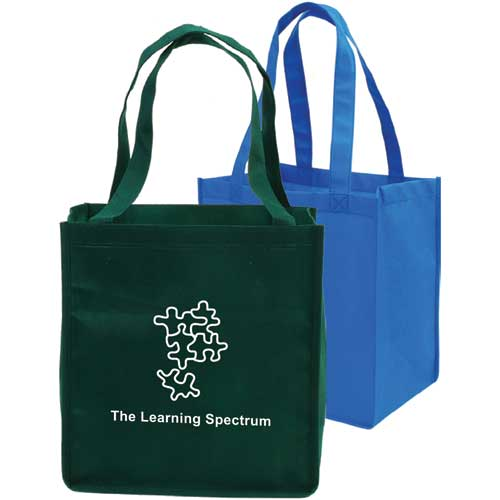 Non-woven full-gusseted shopping tote