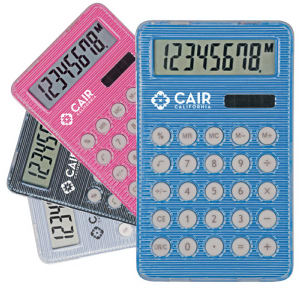 Dual power handheld calculator.