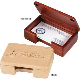 Solid wood business card