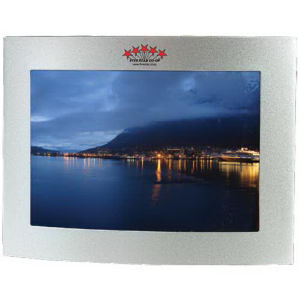 Curved metal picture frame,