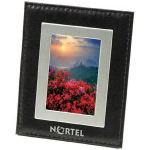 Bonded black leather picture