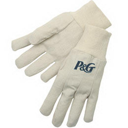 Canvas gloves with natural