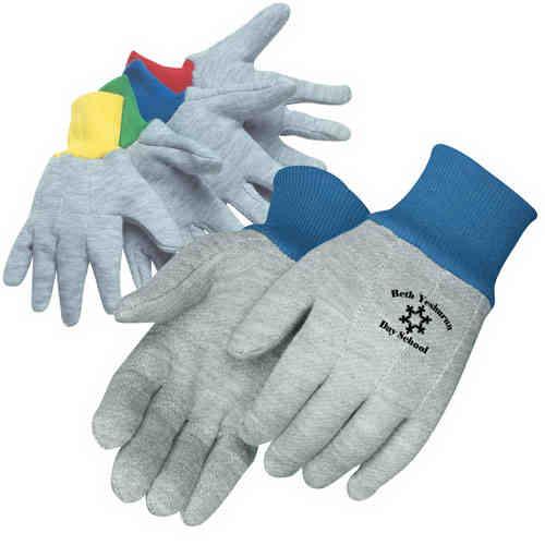 Kid's gray jersey gloves