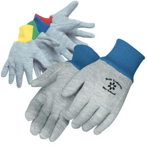 Kid's gray jersey gloves