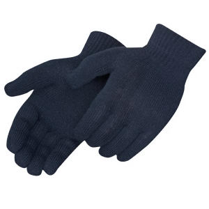Black stretchable gloves.