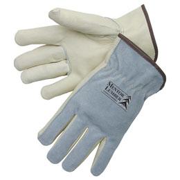 Grain cowhide driver gloves