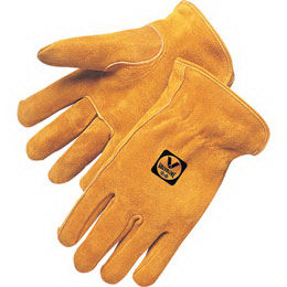 Split cowhide driver gloves