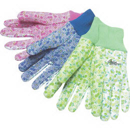 Cotton gardening gloves with