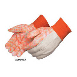 Canvas work gloves with
