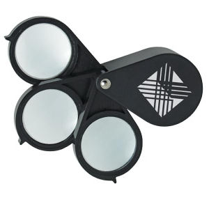 Triple-Lens Folding Magnifier