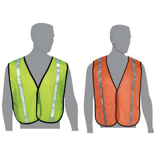 Safety vest with stripes,