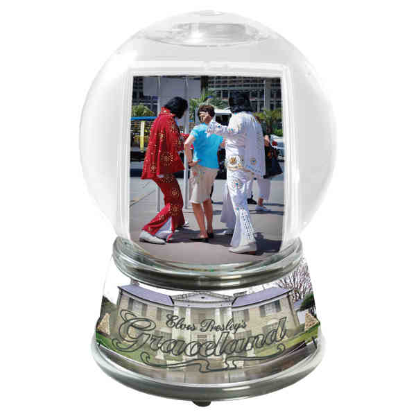 Customizable snow globe that