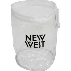 Large promotional Clear Drawstring