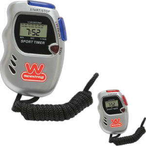 Ergonomic and stylish sports timer features 1 100 of a second stop watch TIMER0400