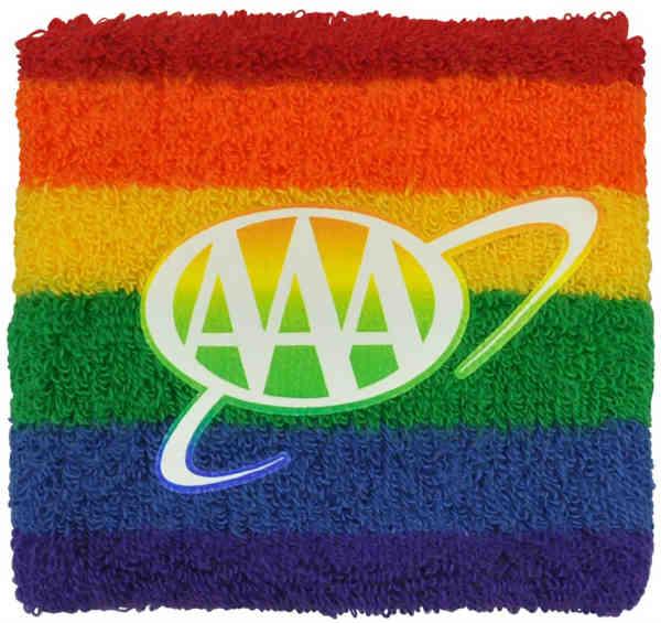 Heavyweight Rainbow Pride Wristband