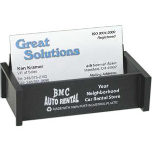 Post Industrial Recycled Plastic Business Card Holder