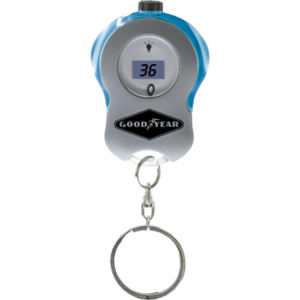 Digital tire gauge keytag