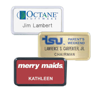 Promotional Name Badges-LVS6(G-S-B)