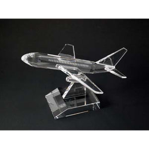 Airplane optical crystal award