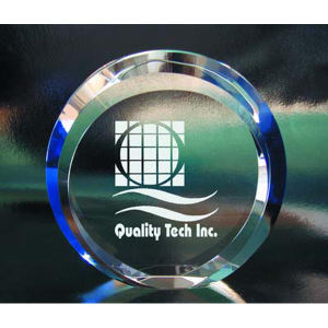 Beveled circle optical crystal