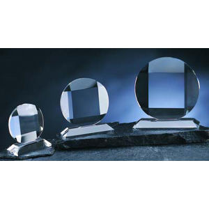 Circle optical crystal award