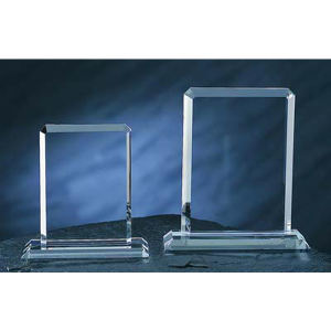 Rectangle optical crystal award