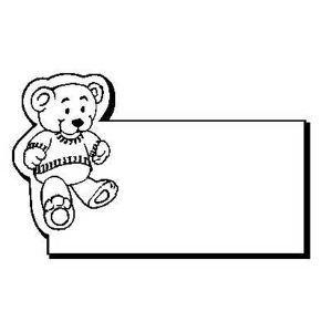 Promotional Magnetic Memo Holders-Bear1