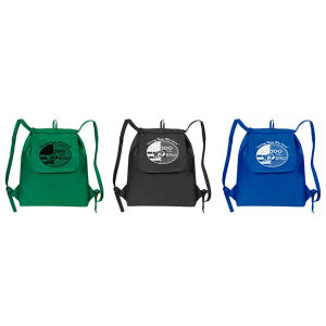 Fold up drawstring cooler