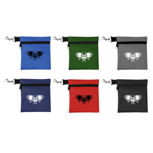 Zippered golf tee pouch