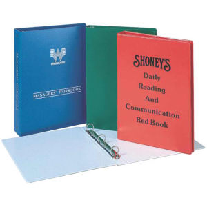 Legal size ring binder,