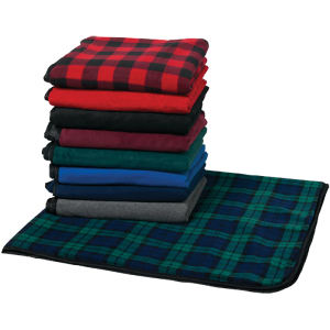 Fleece picnic blanket.
