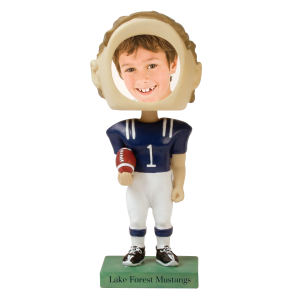 Single bobble head (football).